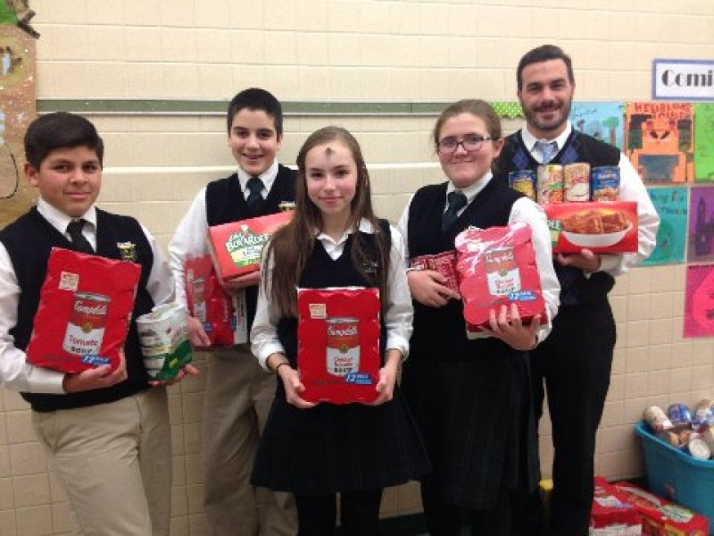st paul school collects 600 canned goods for trenton food pantry princeton nj patch. Black Bedroom Furniture Sets. Home Design Ideas