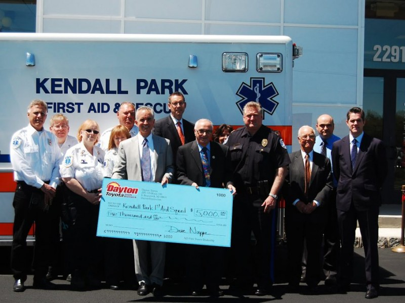 Dayton Toyota Celebrates Re Opening With 5k Donation To First Aid Squad South Brunswick Nj Patch