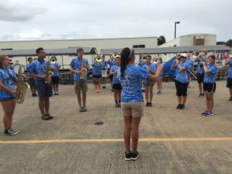 Tuscarora Band Marches In Pearl Harbor Parade In Hawaii