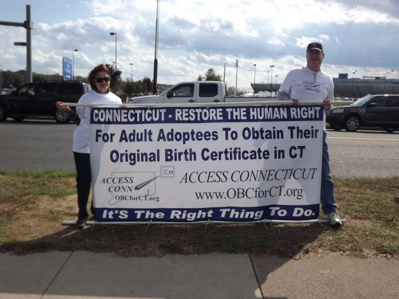 Adoptee Rights Rally In West Hartford At West Farm Mall Manchester