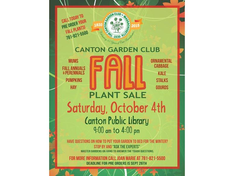 order your fall plants now from the canton garden club - Canton Garden