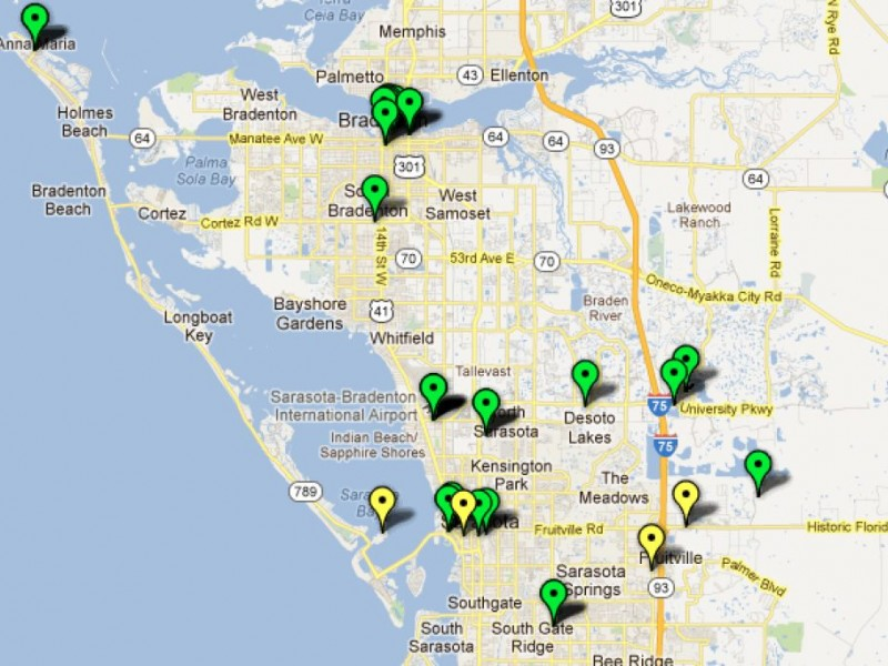 Map Electric Car Charging Stations Sarasota FL Patch