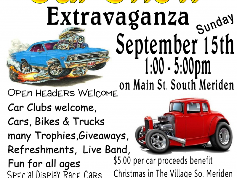 Car Show Extravaganza Coming To South Meriden Meriden CT Patch - Car show giveaways