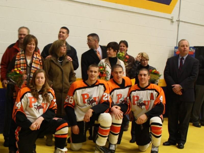 Ice Hockey Team Salutes Pv Seniors Perkiomen Valley Pa