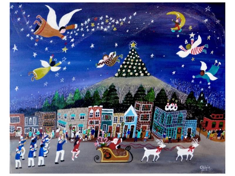 Local Artist Making Stone Mountain Christmas Cards | Stone Mountain ...