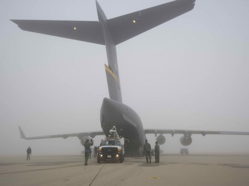 729th Airlift Squadron Being Welcomed Home To March Air Reserve Base