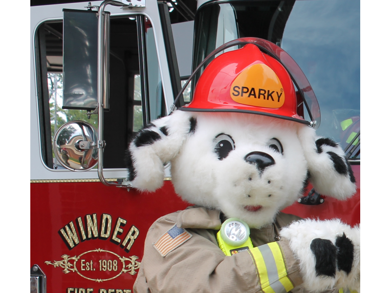Meet Sparky The Fire Dog Touch A Truck And More During Prevention Day